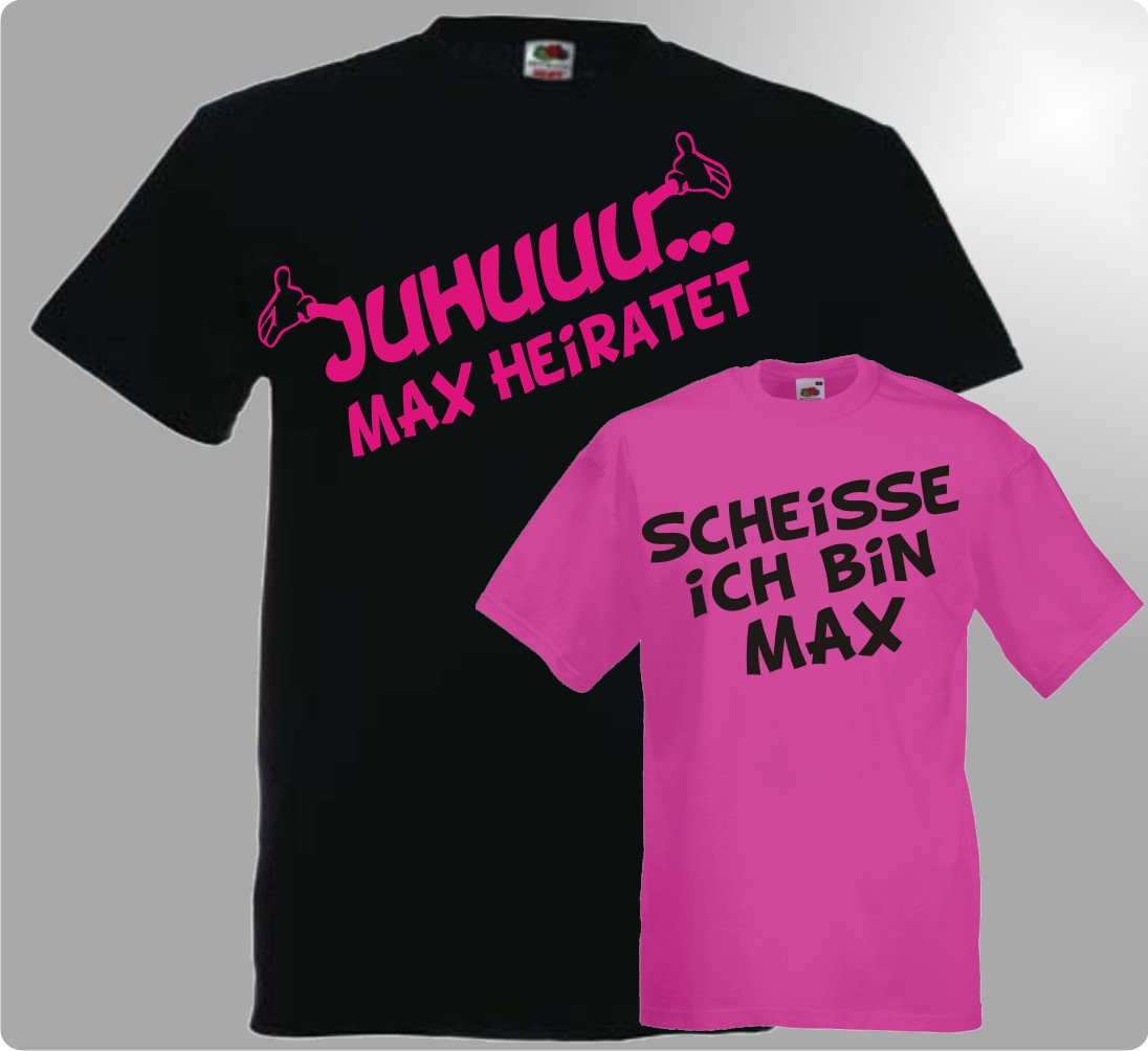 Juhu Jga TShirts Junggesellenabschied Wunschname Hochzeit Party individuell