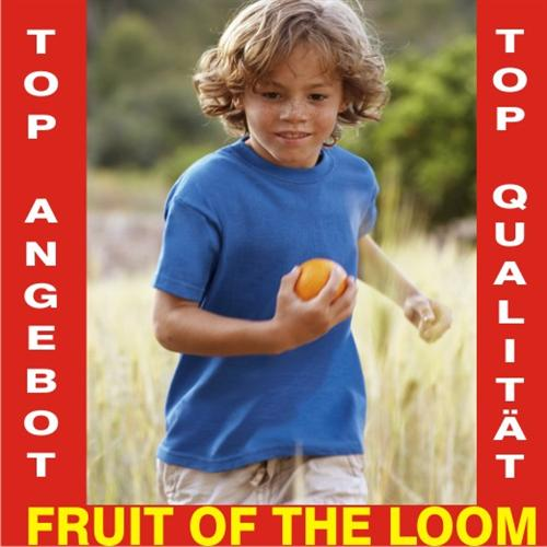 Kinder T-Shirt FRUIT OF THE LOOM 104 116 128 140 152