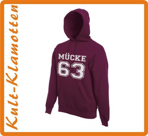 Mücke 63 Bud Kapuzen Sweatshirt Kult Hoodie NEU S M L XL XXL