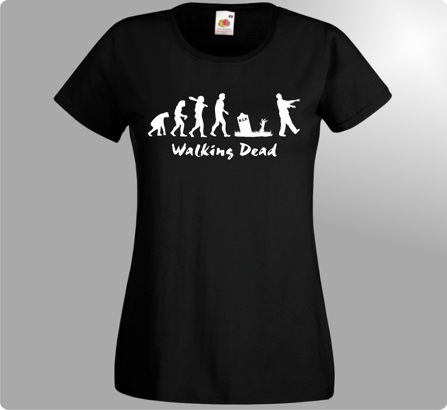 WALKING DEAD DAMEN T-SHIRT Serie THE Evolution Zomie für Grimes Fans