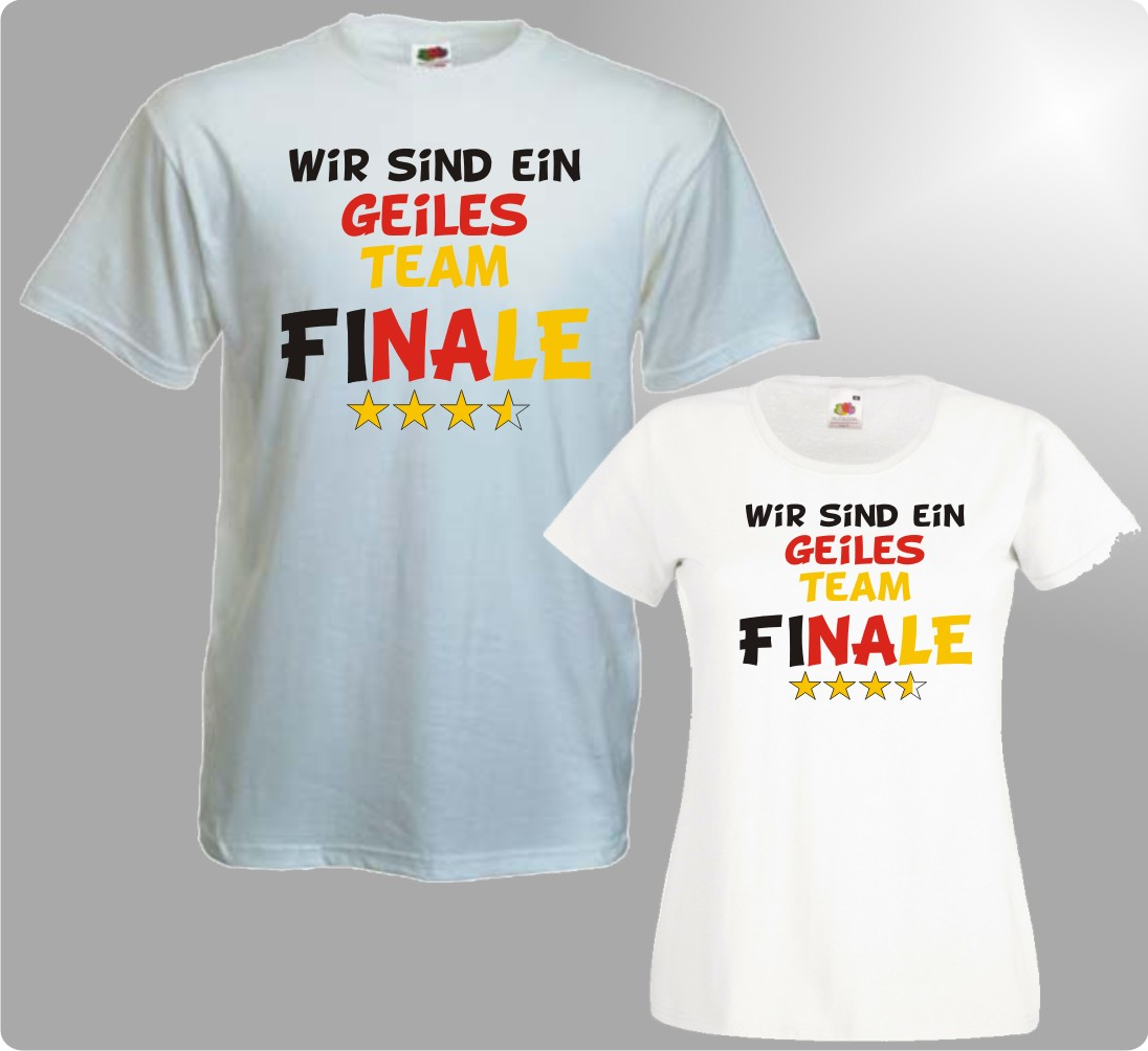 WM T-Shirt Geiles Team Damen / Herren Shirt Fussball WM 2014 FINALE Brasilien