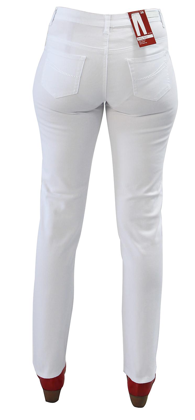 Details zu Damen Hose weiß Passform Betty Damenhose Stretch Arzt Klinik Krankenschwester