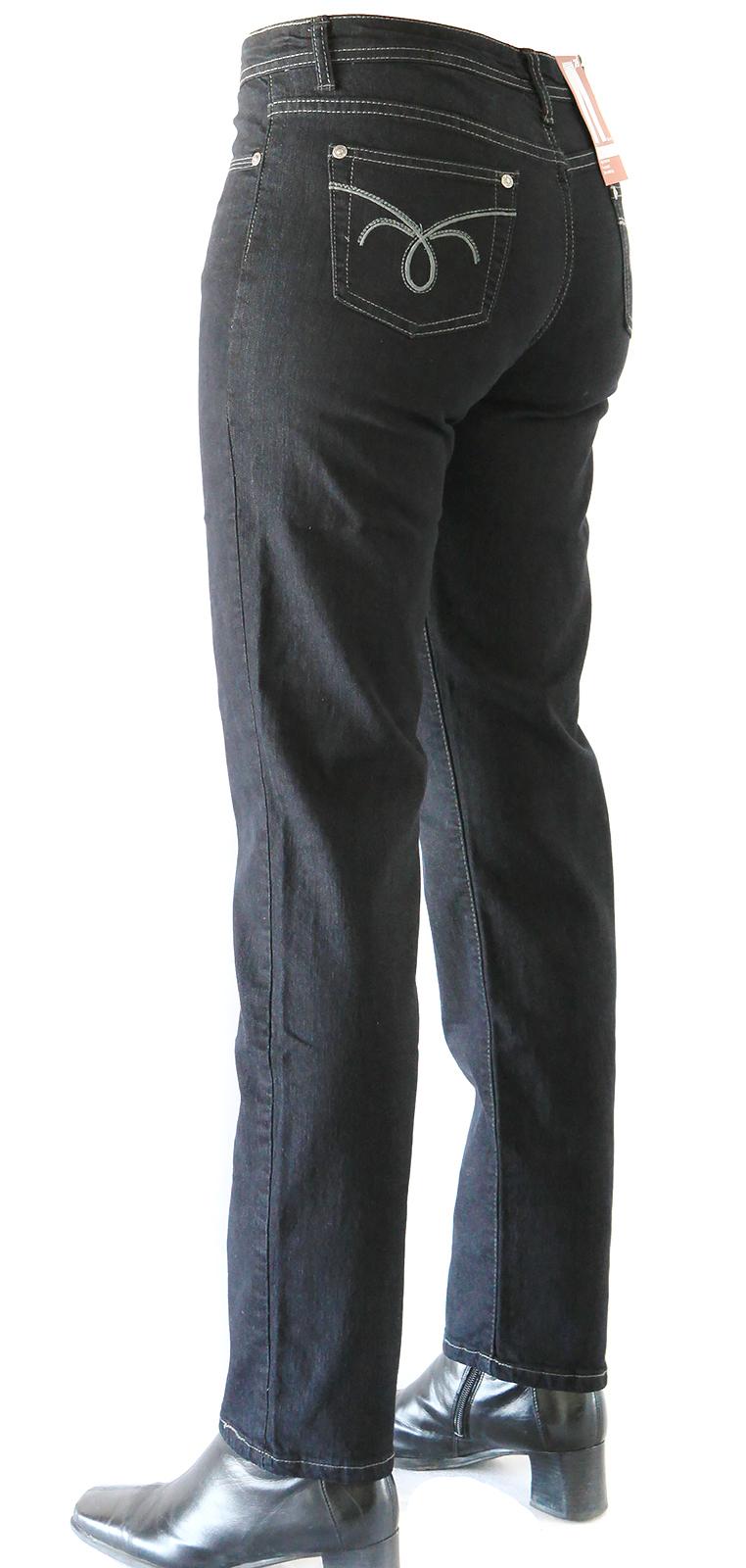 Damen Stretch Jeans von Jet-Line  Modell Betty Slim Black Damenjeans Damenhose