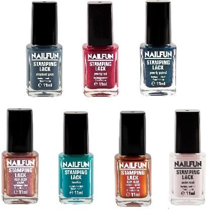 7er Set NAILFUN Stampinglack - Beautyful Colors - [7x 11ml]