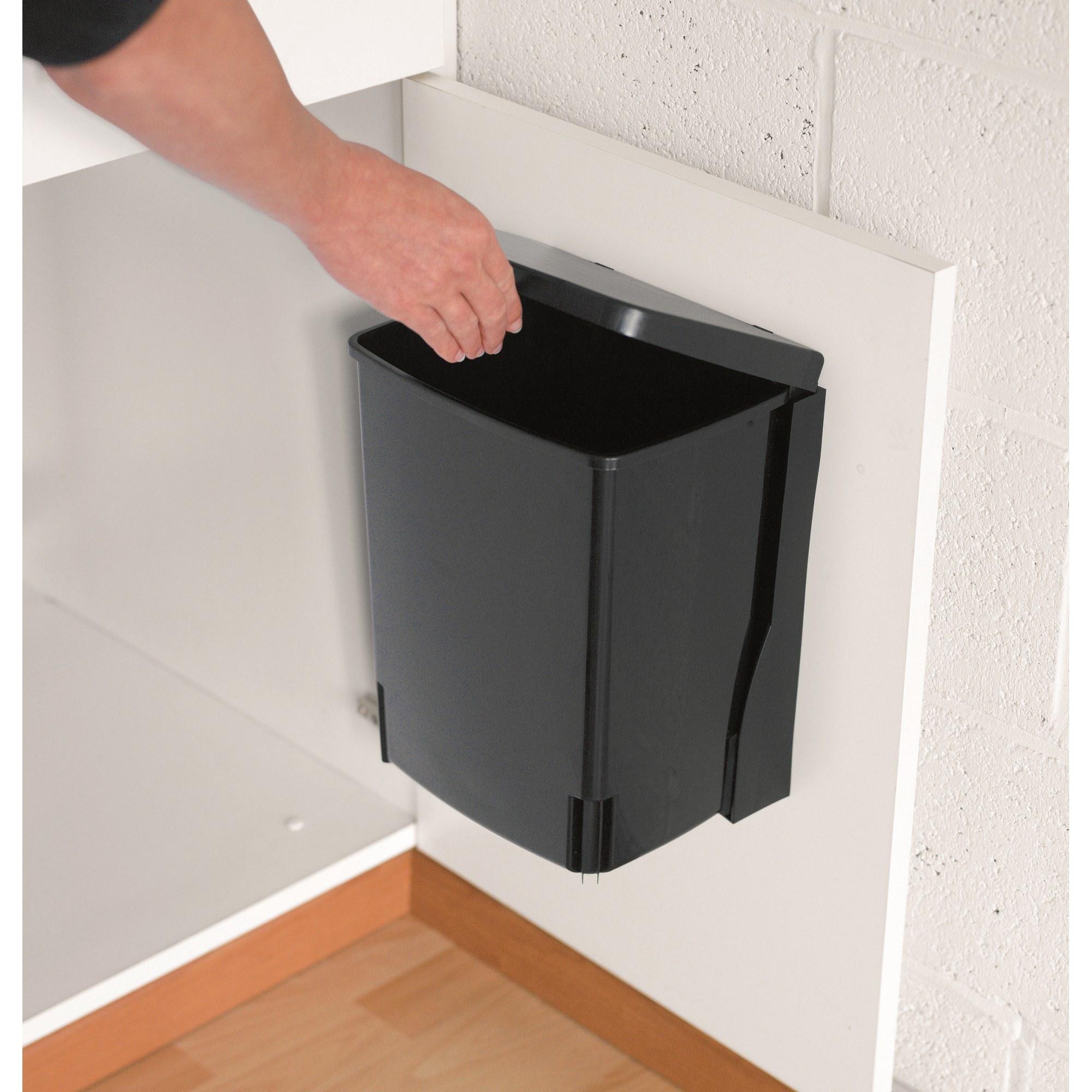 brabantia einbau m lleimer 10 liter black ebay. Black Bedroom Furniture Sets. Home Design Ideas