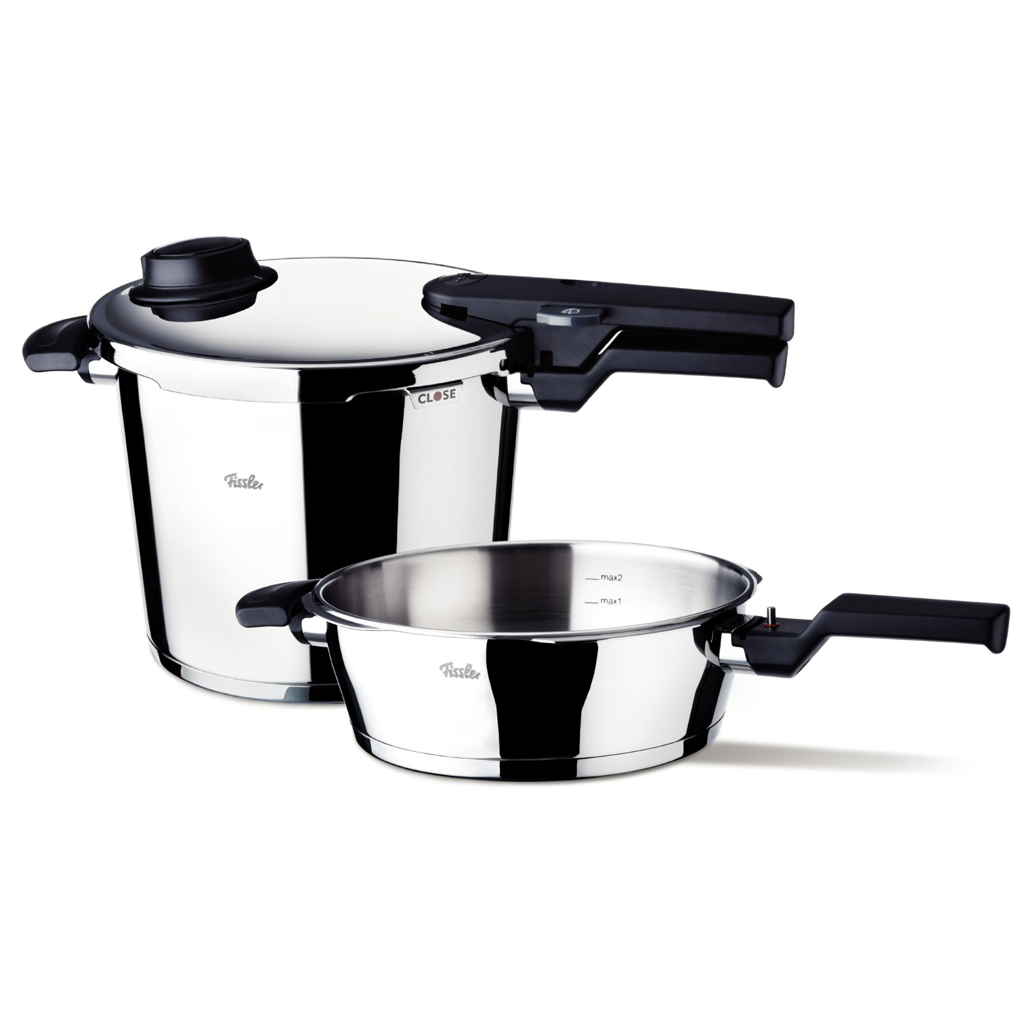 fissler schnellkochtopf vitavit comfort duo set 6 0 2 5 liter ebay. Black Bedroom Furniture Sets. Home Design Ideas