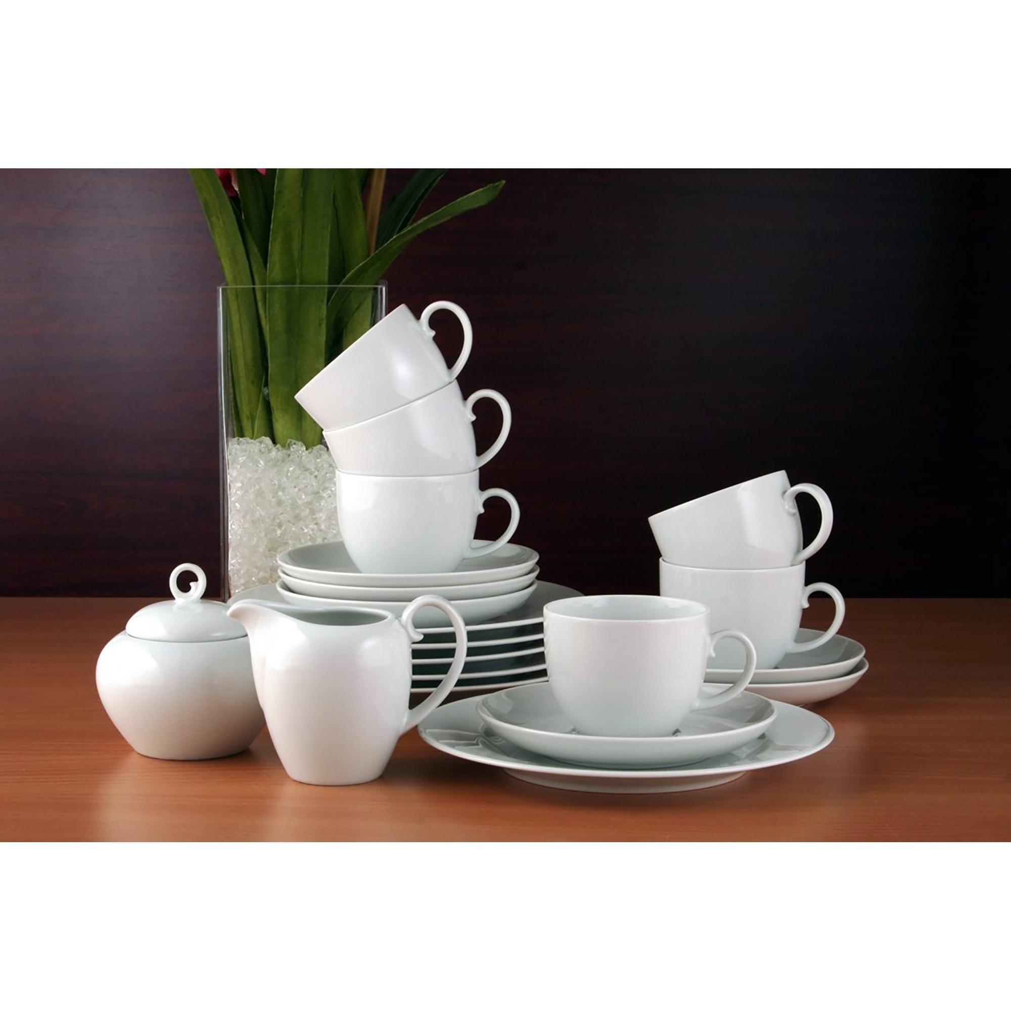 seltmann weiden rondo liane kaffeeservice 20 teilig wei uni ebay. Black Bedroom Furniture Sets. Home Design Ideas