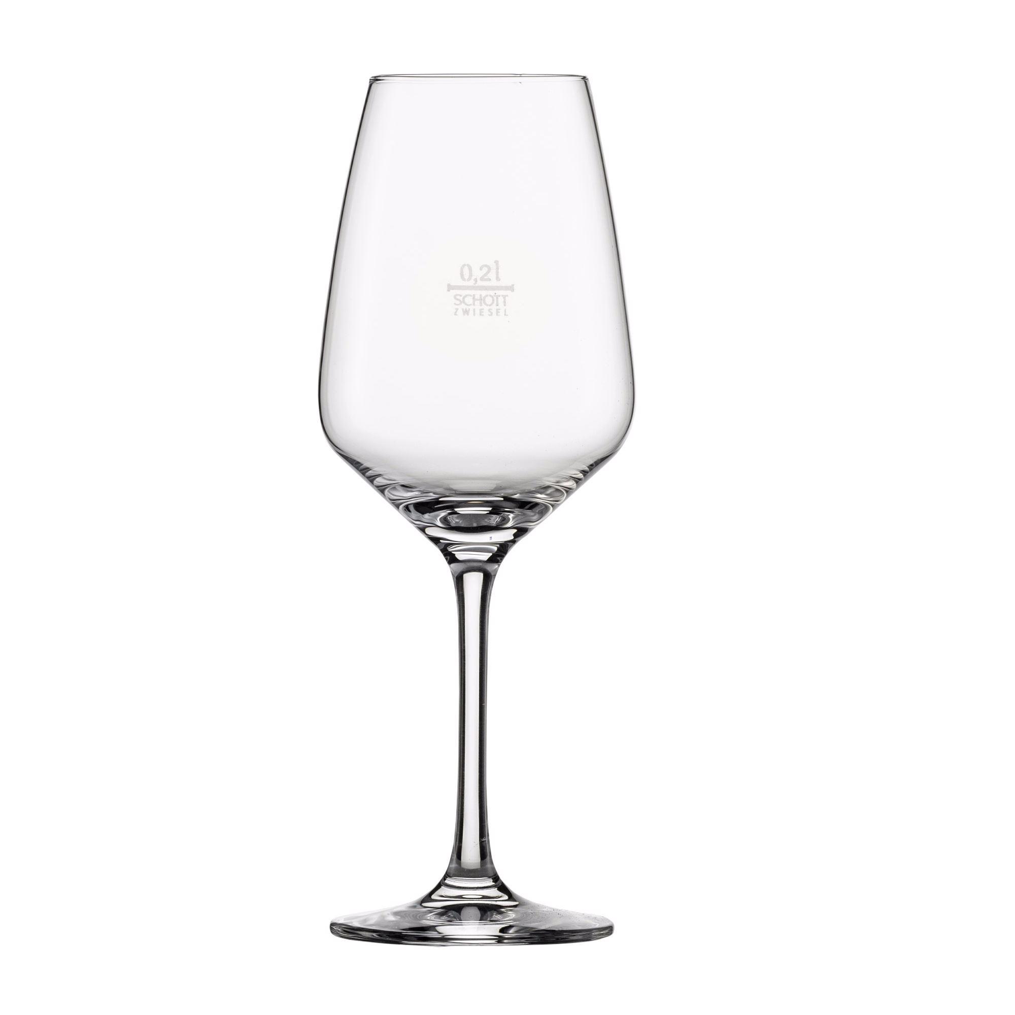 Détails sur Schott Zwiesel Série Touches Verre de Vin Blanc 6 Pièce Calibré 0,2 Remplir
