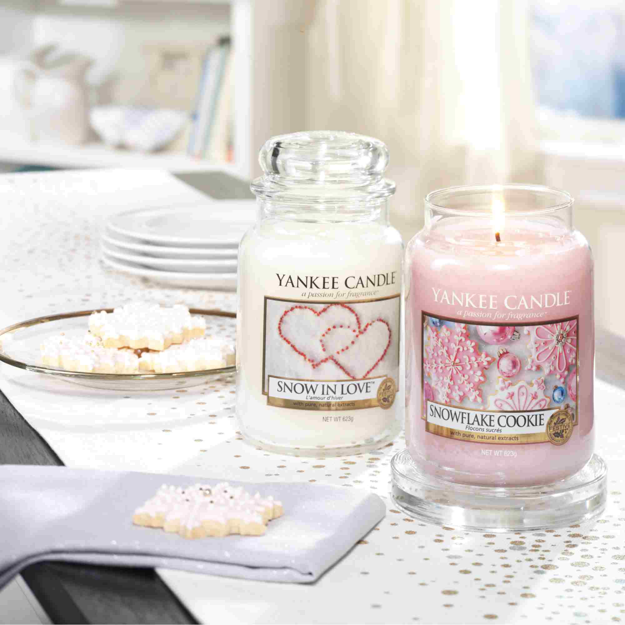 Yankee Candle Grand Bougie Neige IN Love 623 G Bougie Parfumée