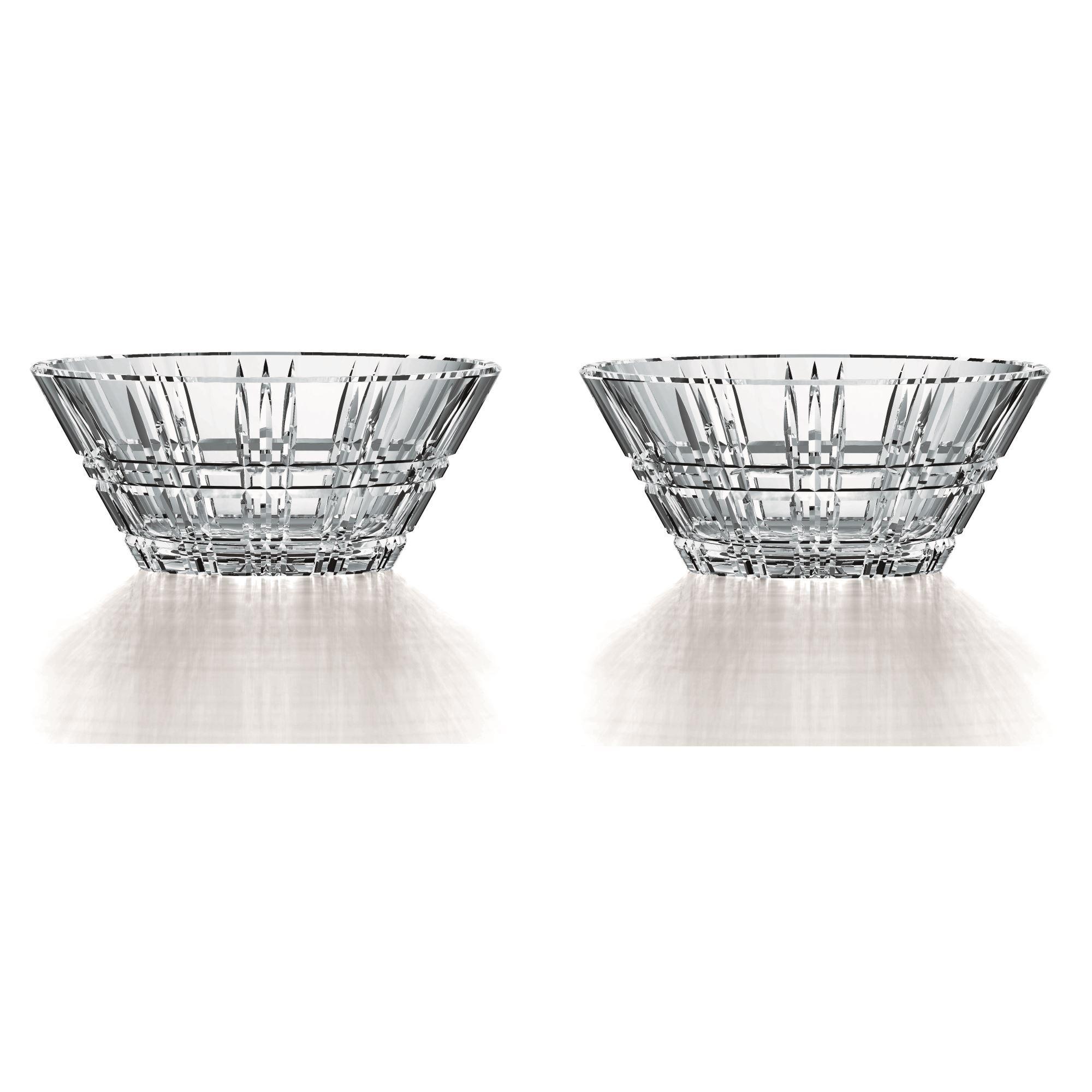 Nachtmann Square Schale 2er Set Obstschale Schälchen Glasschale Kristallglas Ø15