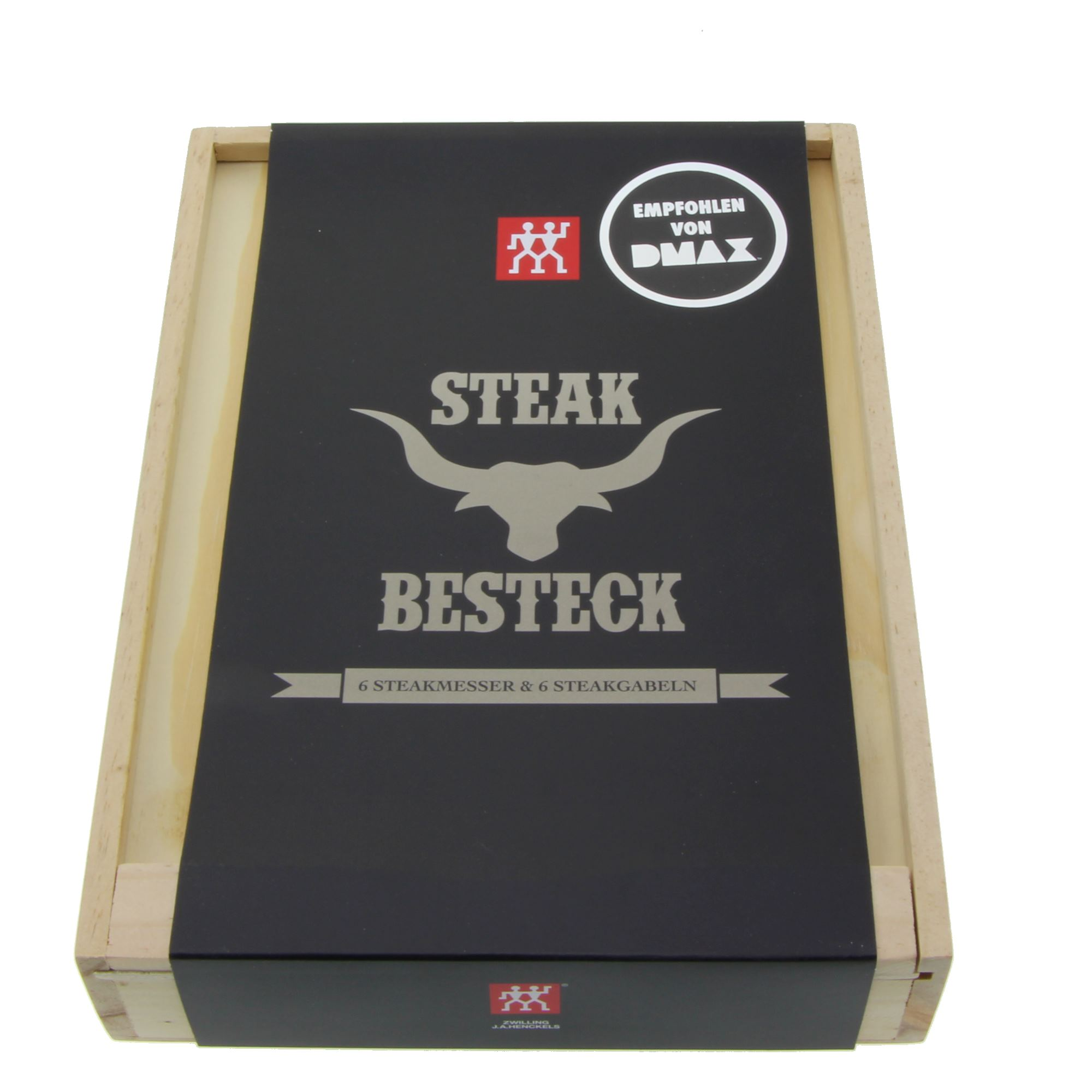 zwilling steakbesteck grillbesteck set 12 teilig in holzbox 4009839397134 ebay. Black Bedroom Furniture Sets. Home Design Ideas