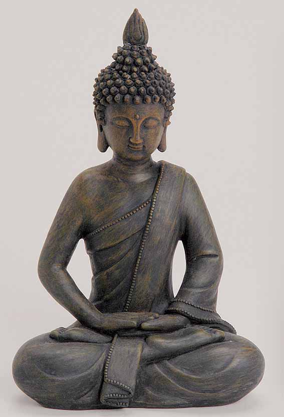 deko buddha figur statue skulptur asien garten thailand feng shui 27 cm neu ebay. Black Bedroom Furniture Sets. Home Design Ideas