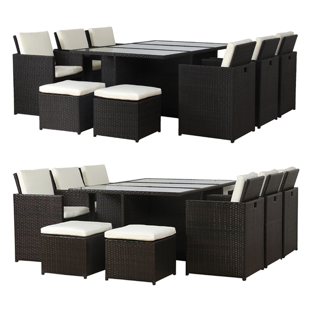 poly rattan essgruppe lounge garnitur sitzgruppe gartenm bel aluminium farbwahl ebay. Black Bedroom Furniture Sets. Home Design Ideas