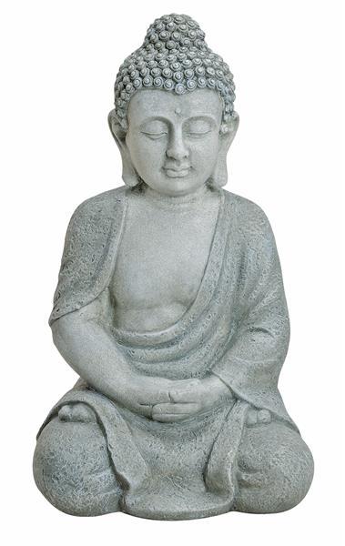 Xxl gro er buddha 50cm steinfigur garten deko figur for Steinfigur buddha garten
