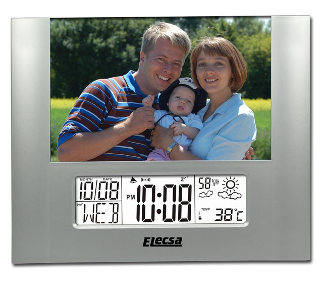 Photo Wetterstation Wecker Luftfeuchte Thermometer 6845