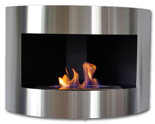 Gel y etanol chimenea DIANA negro chimenea de pared chimenea de acero inoxidable quemador ajustable