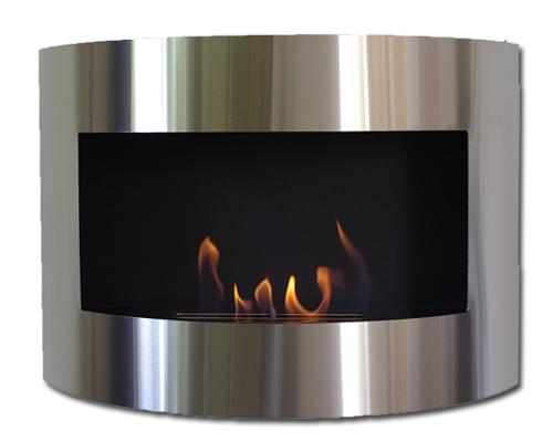 Design Fireplace RIVIERA Deluxe Silver Bio Ethanol Gel Fire Place