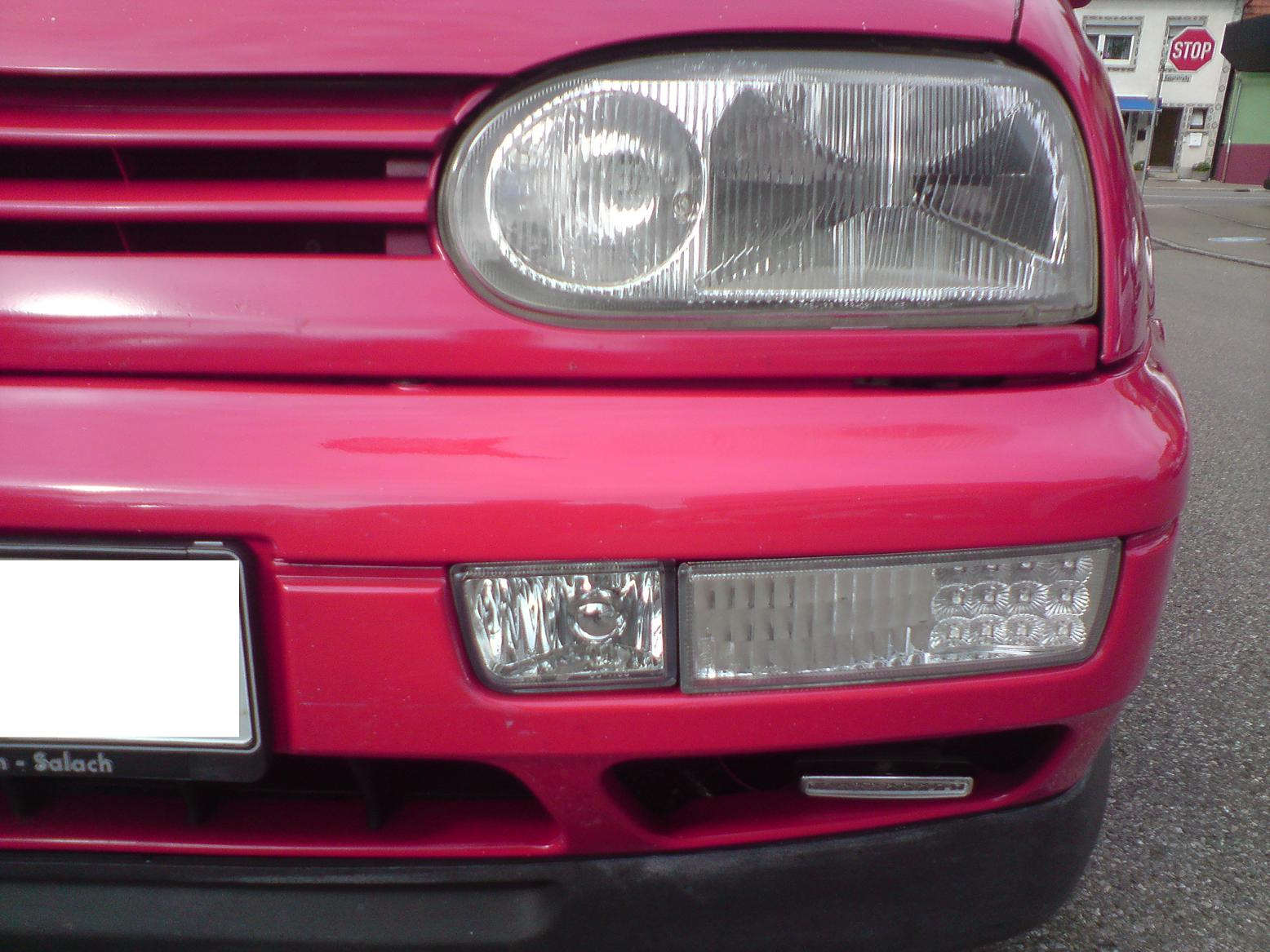 frontblinker led blinker nebelscheinwerfer vw golf 3 ebay. Black Bedroom Furniture Sets. Home Design Ideas