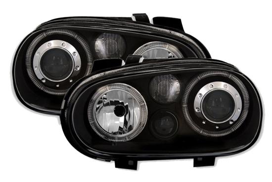 angel eyes scheinwerfer r ckleuchten vw golf 4 schwarz ebay. Black Bedroom Furniture Sets. Home Design Ideas