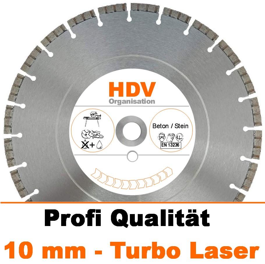 10 mm 350 x 20 mm Beton Diamanttrennscheibe Laser