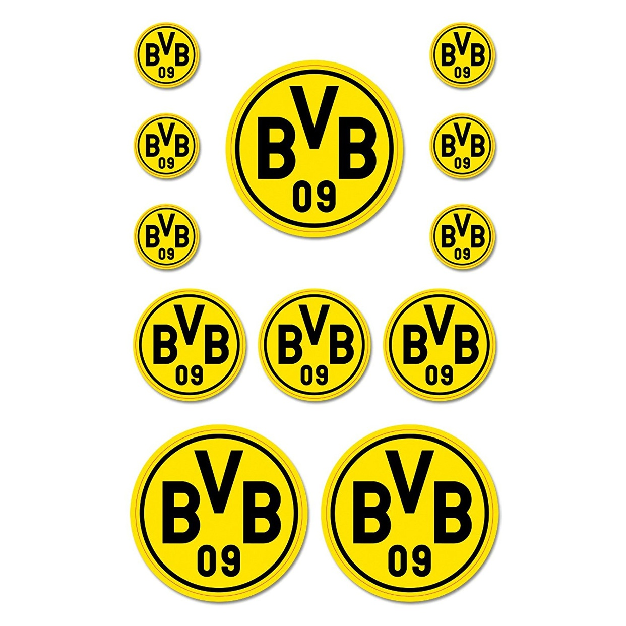 bvb aufkleberkarte borussia dortmund ebay. Black Bedroom Furniture Sets. Home Design Ideas