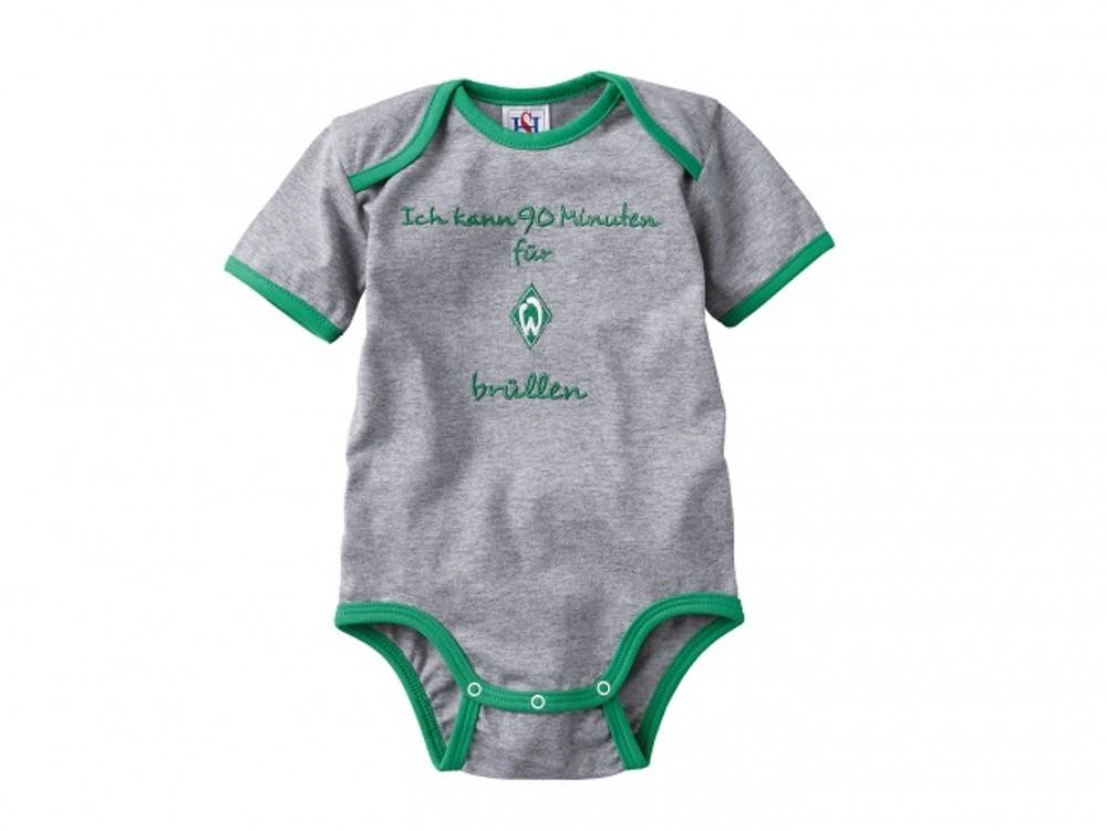 BABY-SCHNULLER-T-SHIRT-HOSE-BODY-SCHUHE-FLASCHE-MUTZE-SV-WERDER-BREMEN