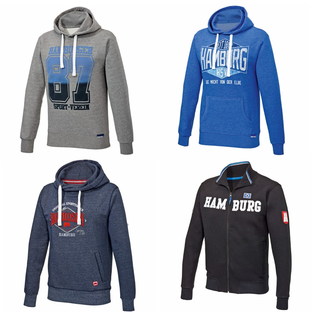 herren hoody sweatjacke hoodie gr s 4xl hamburger sv hsv ebay. Black Bedroom Furniture Sets. Home Design Ideas