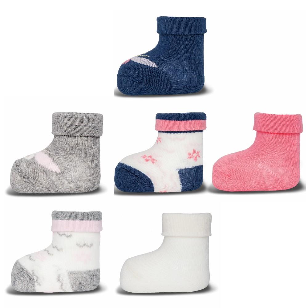 ewers 3er Set Baby-Socken Erstlingssöckchen Marienkäfer Plüsch