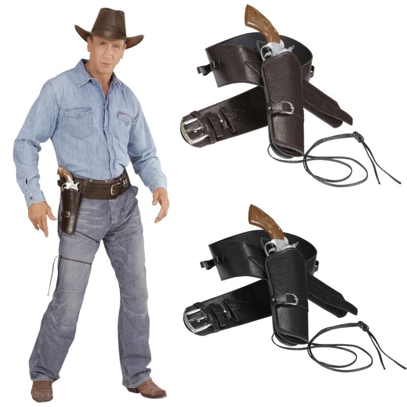 Western Pistolenholster Sheriff Waffengürtel Cowboy Pistolenhalfter Revolverheld