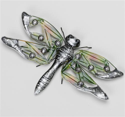 Wanddekoration Libelle 37x23cm Garten Figur Deko Wanddeko Metall  eBay