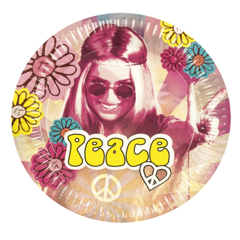 Peace Hippie Motto Party Deko Set 60er 70er Jahre Flower