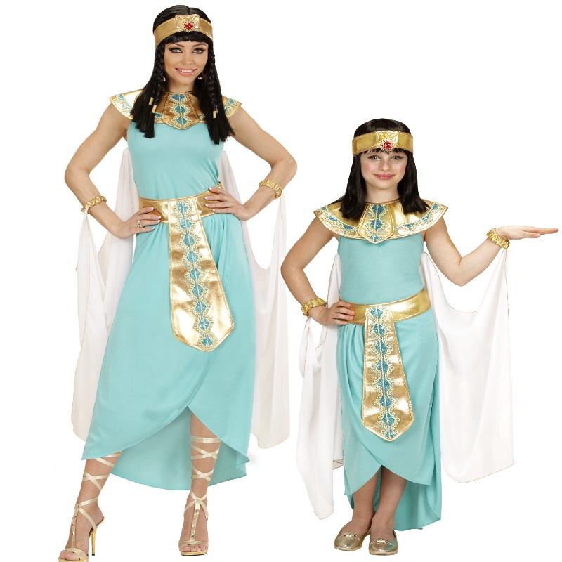 gyptische k nigin pharaonin cleopatra partnerkost m kinder und damen kost m ebay. Black Bedroom Furniture Sets. Home Design Ideas