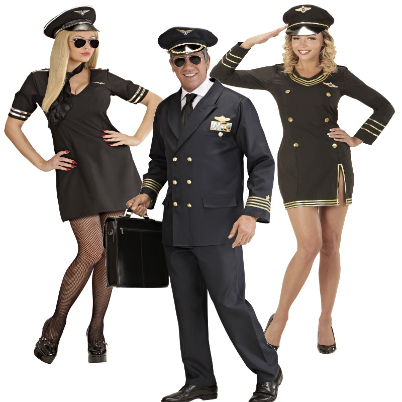 pilot pilotin partner kost m damen und herren uniform flugkapit n stewardess ebay. Black Bedroom Furniture Sets. Home Design Ideas