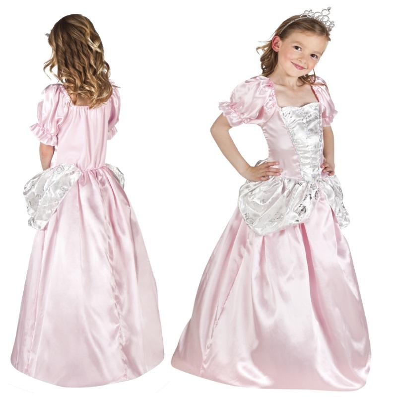 prinzessin kleid mit diadem pink rosa kinder kost m neu. Black Bedroom Furniture Sets. Home Design Ideas