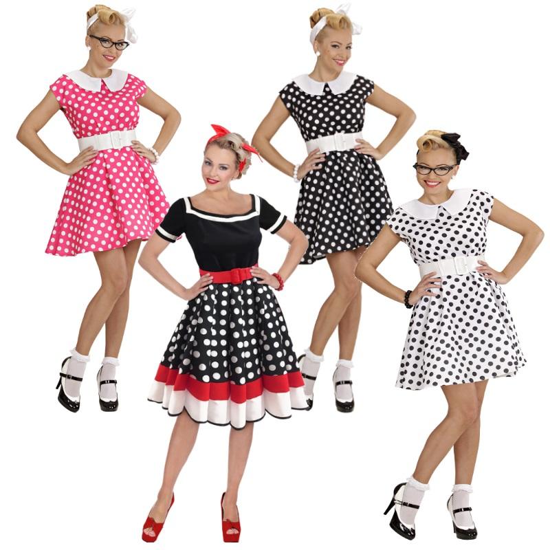 c8822fbd57d26e ROCKABILLY KLEID mit PETTICOAT 50er Jahre Rock'n Roll Damen Kostüm  Partykleid. Damen Kostüm