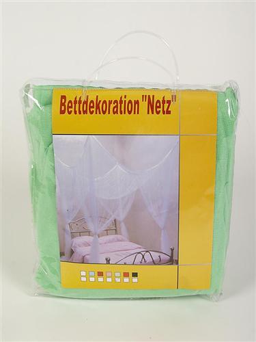 Betthimmel Hellgrün eingepackt in Klarsichttasche
