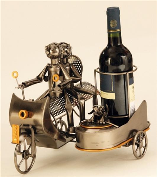 flaschenhalter aus metall motorrad mit beiwagen. Black Bedroom Furniture Sets. Home Design Ideas