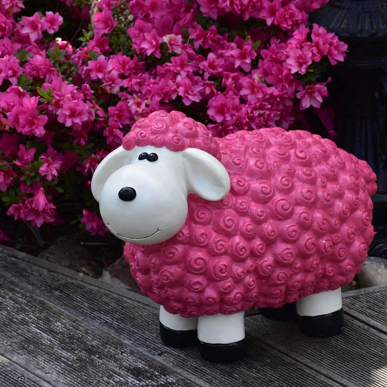 Gartenfigur Schaf in Brombeer