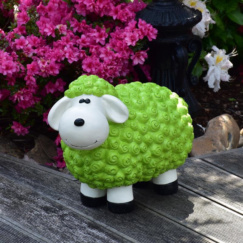 Gartenfigur Schaf in Grün