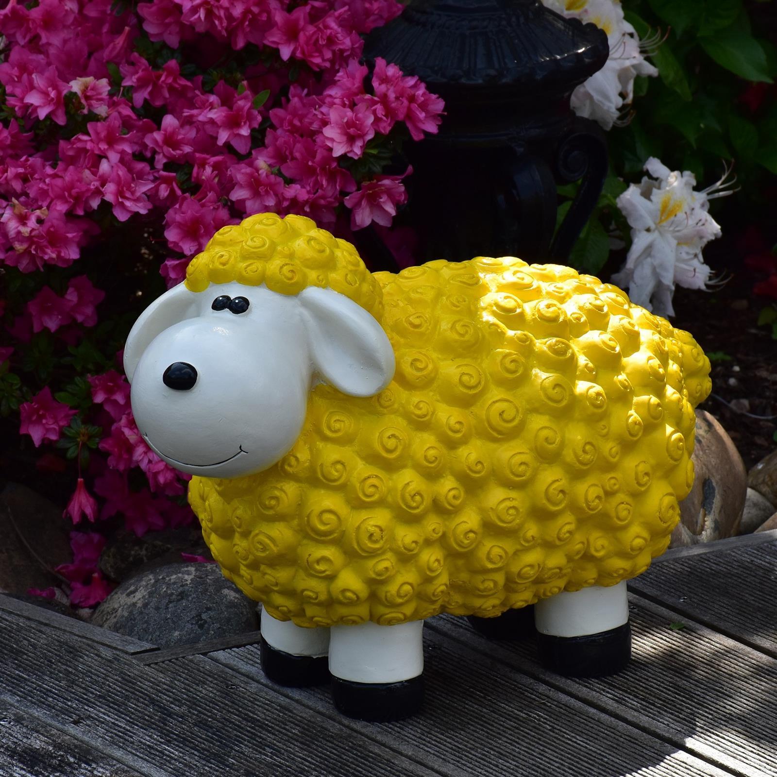 Gartenfigur Schaf in Gelb