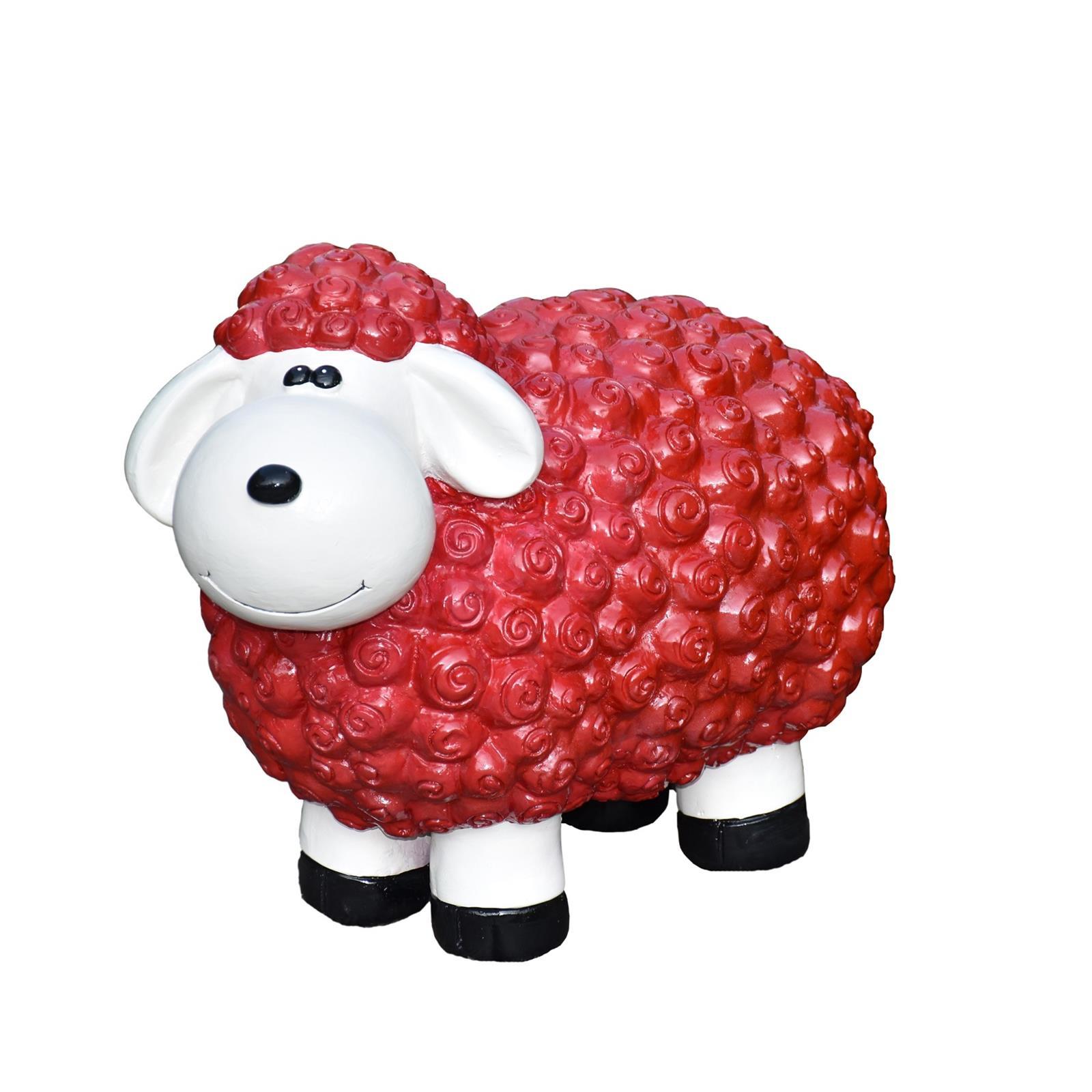 Schaf in Rot
