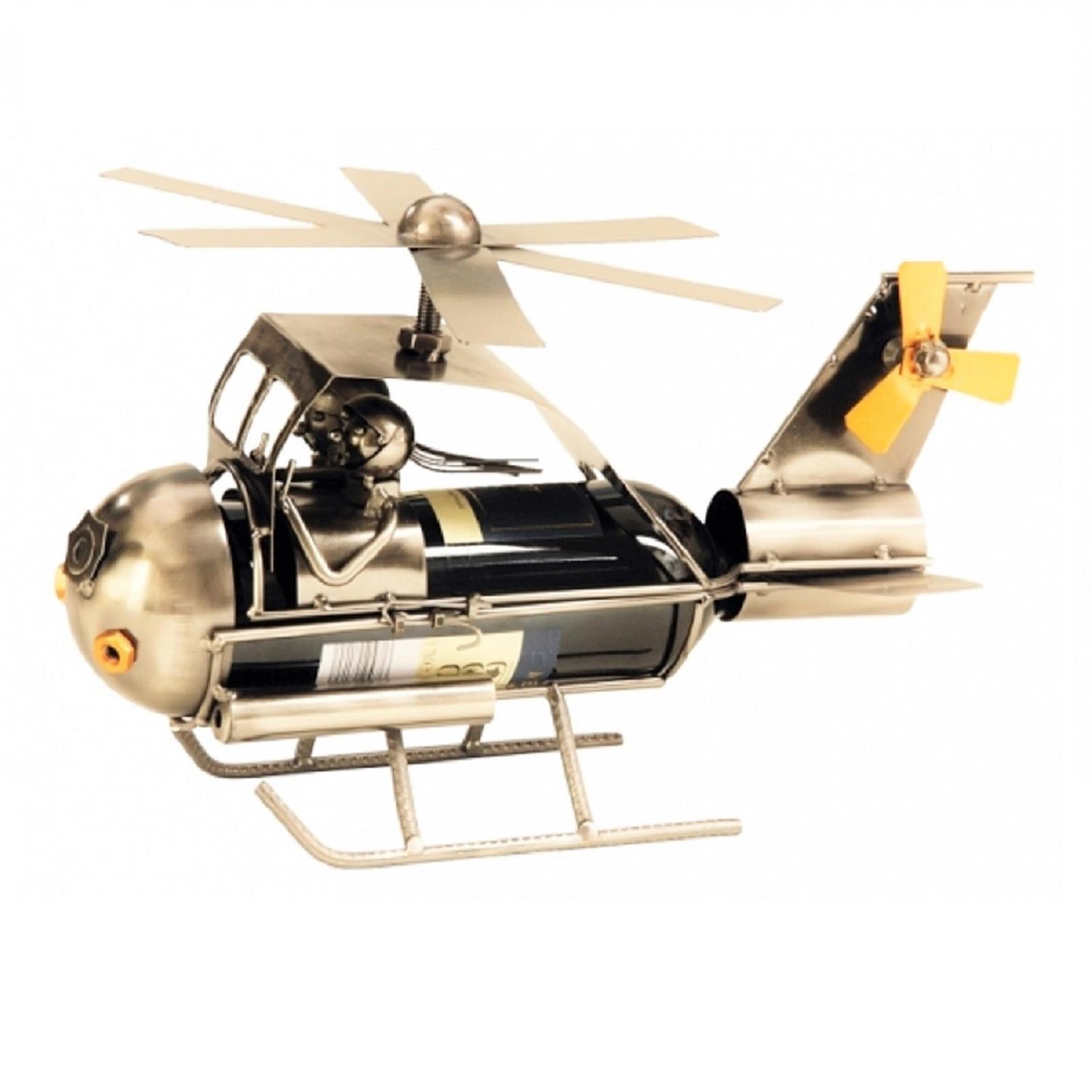 Metall Flaschenhalter Hubschrauber