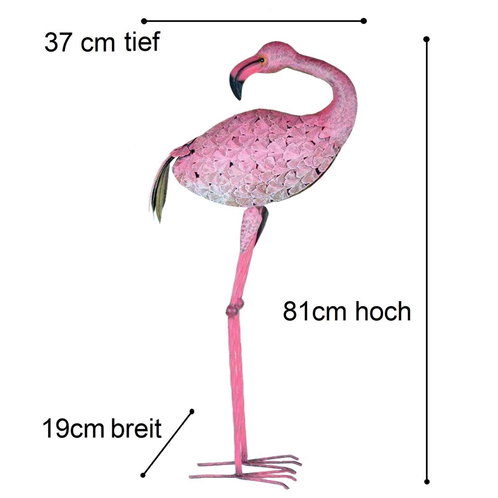 Große Metall Figur Flamingo