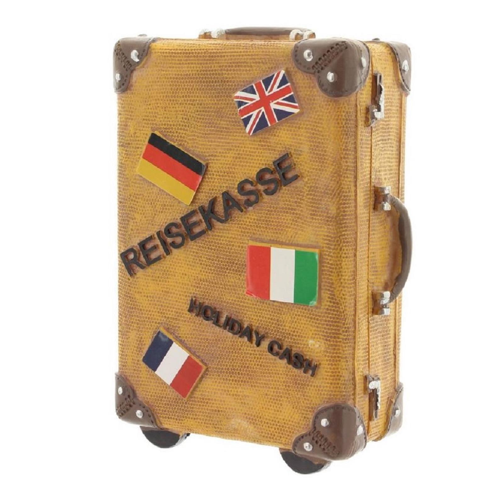 Spardose Reisekoffer Braun