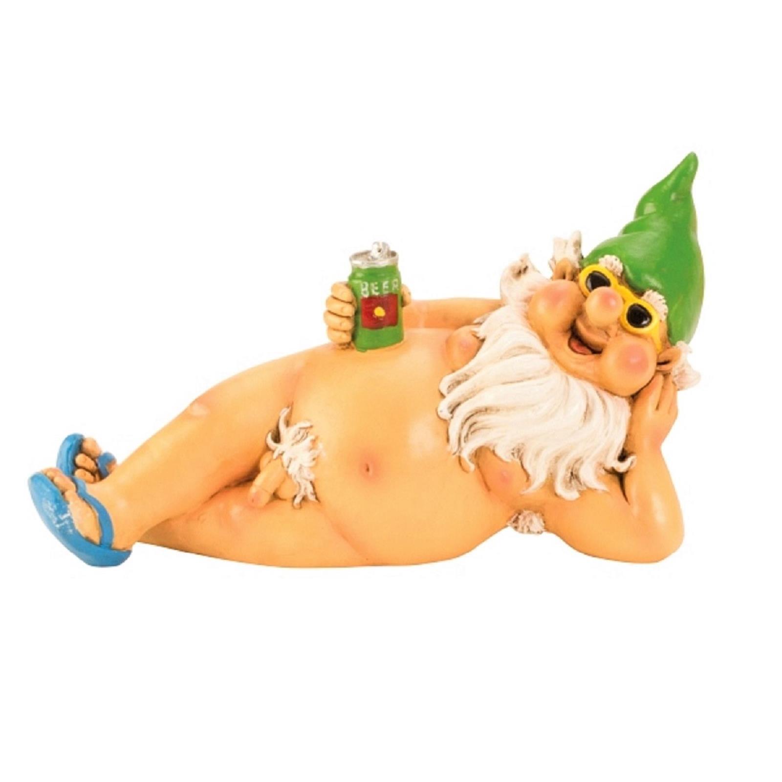 Nackter Zwerg mit grüner Mütze