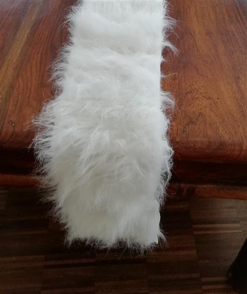 Deko Fell 16 x 200 cm weiß Tischläufer Tischband Läufer ...