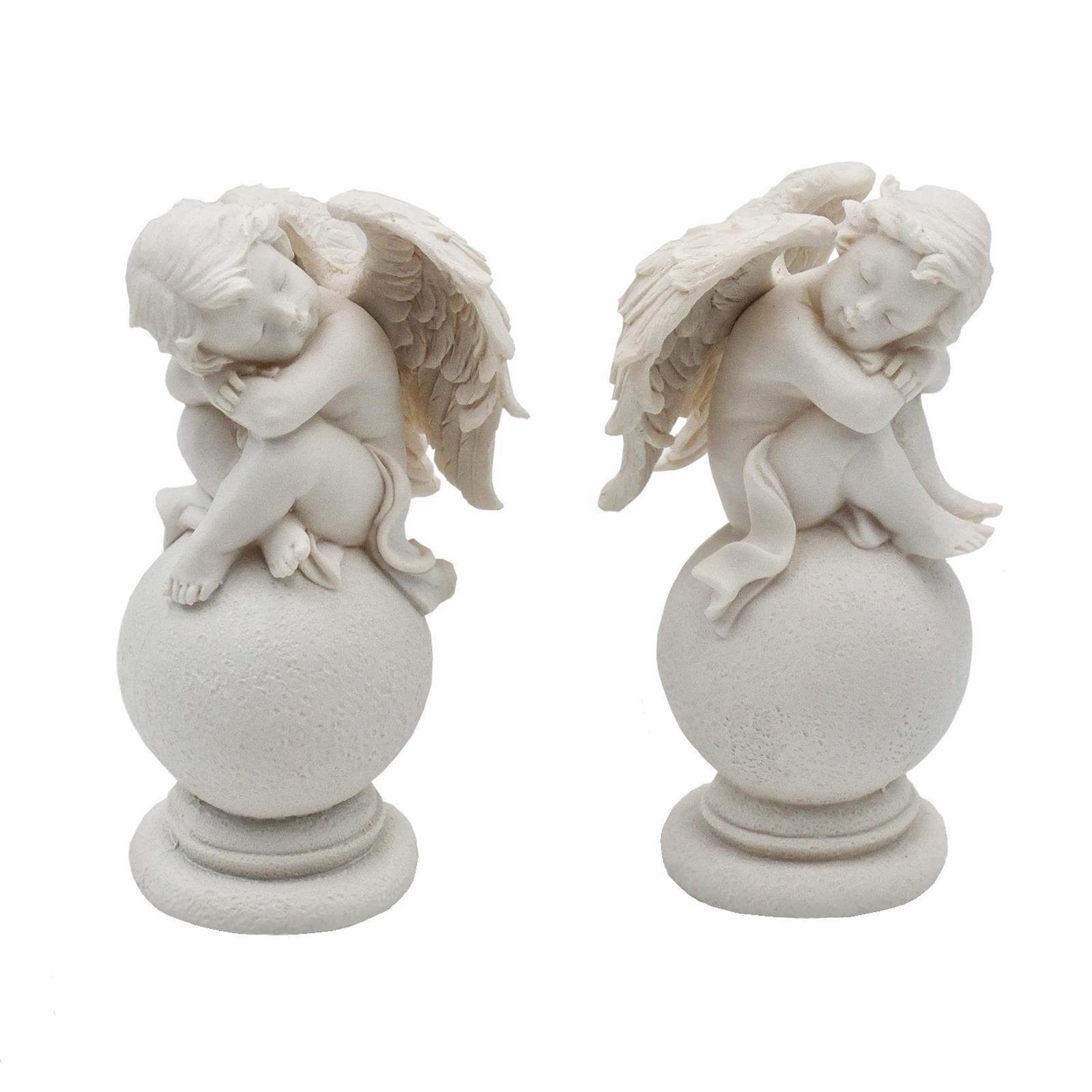 2 Engelfiguren weiß