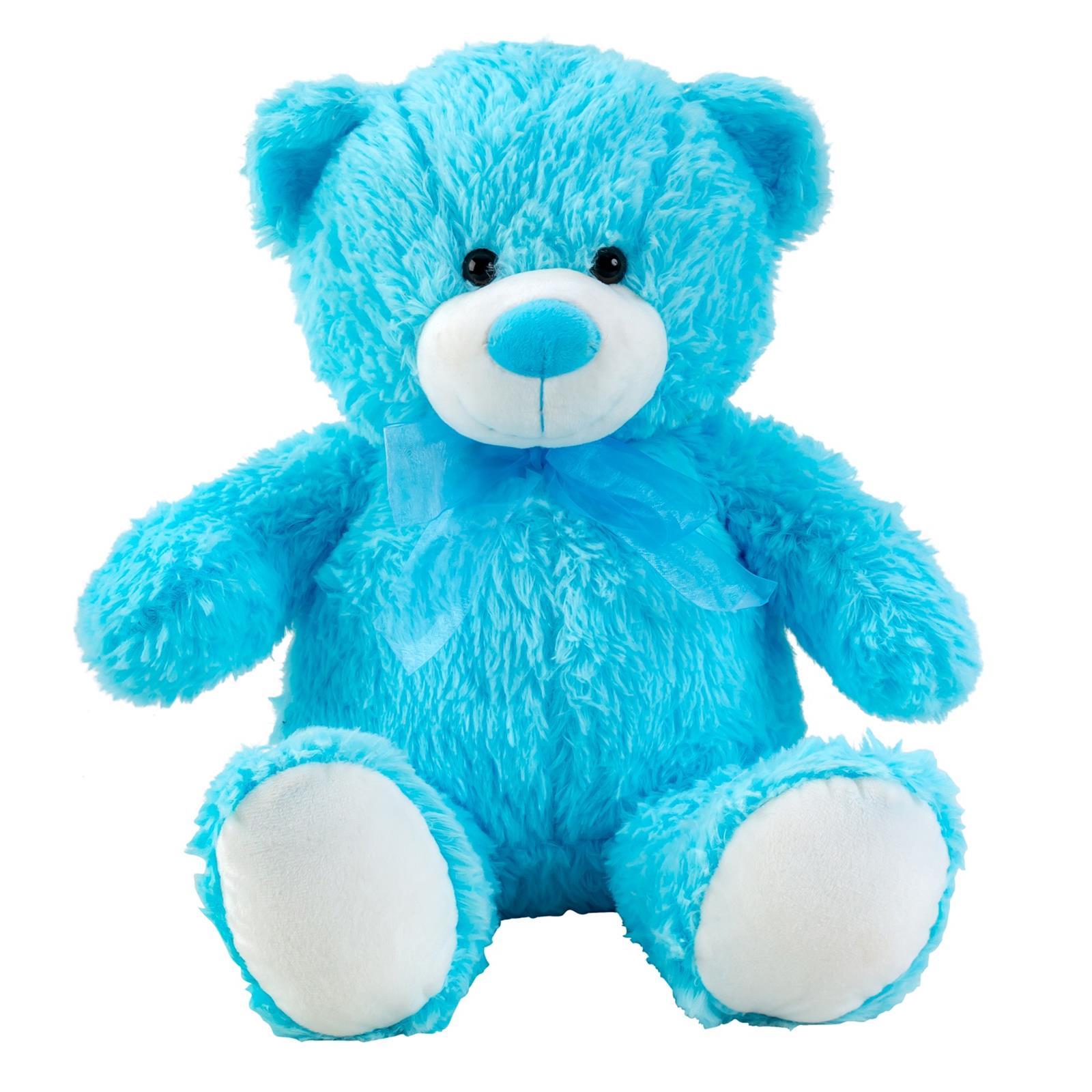Teddybär Blau mit Schleife