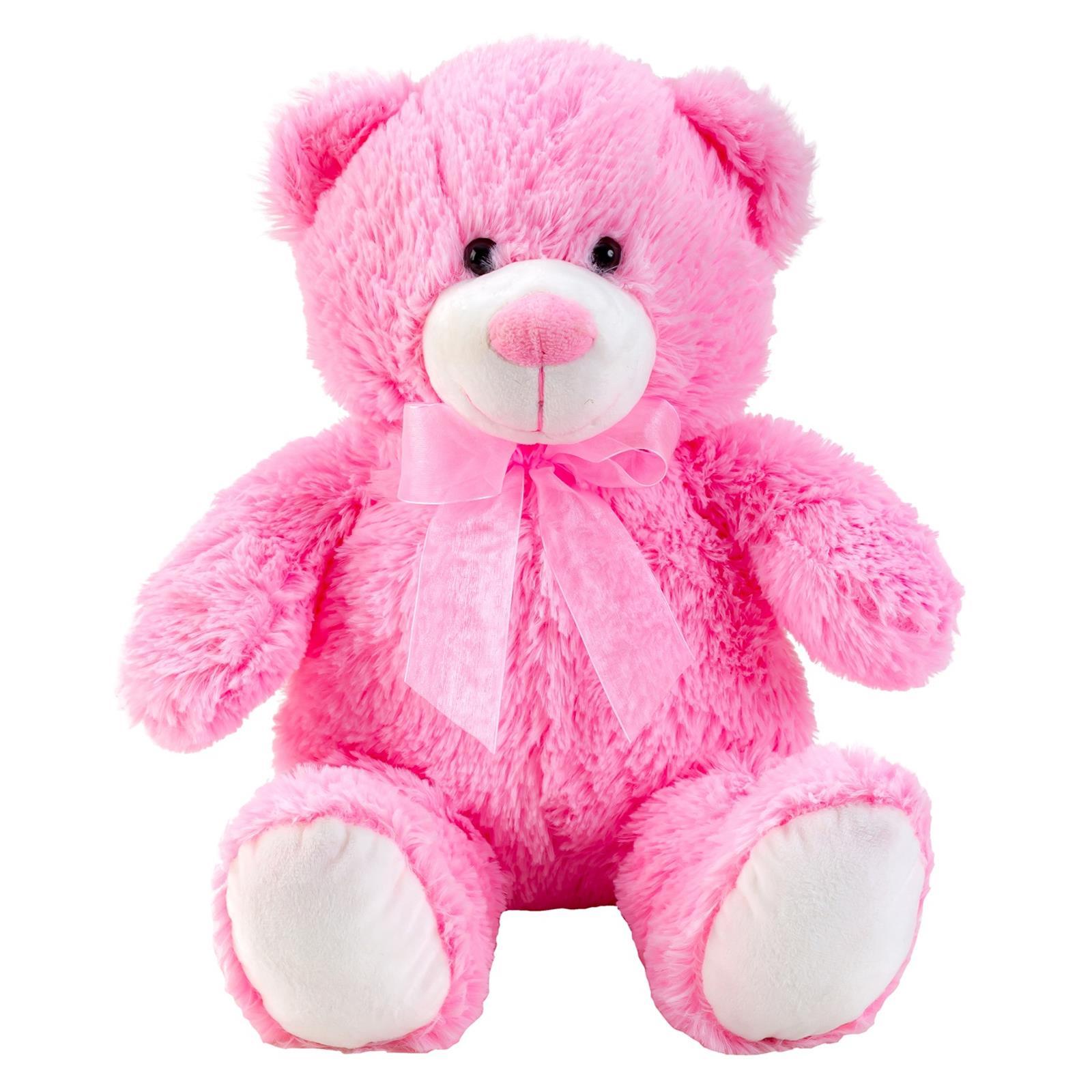 Teddybär Rosa mit Schleife