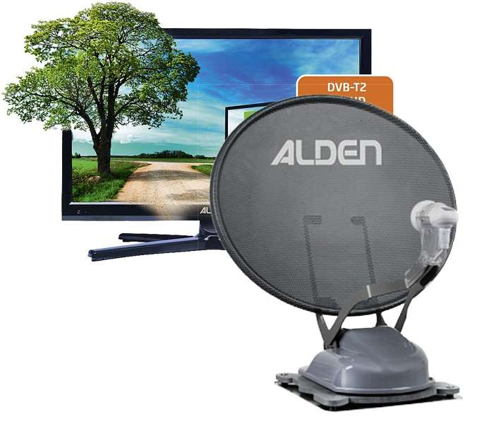 "ALDEN Onelight 60 HD EV S.S.C.® HD-Steuermodul + 18,5"" LED TV Satanlange"